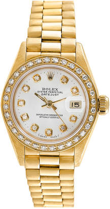 Rolex Heritage  1970S Women's 18K President Diamond Watch
