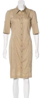 Rena Lange Short Sleeve Button-Up Dress