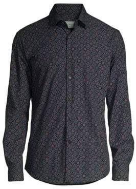 Salvatore Ferragamo Slim-Fit Medieval Print Shirt