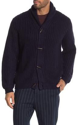 Weatherproof Shaker Knit Stitch Shawl Collar Cardigan