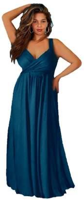 Lotustraders Maxi Dress Straps Twist Sash 3X C5240
