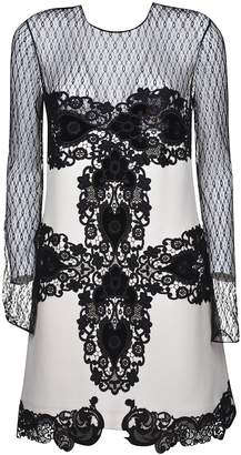 Fausto Puglisi Lace Embroidered Long-sleeved Dress