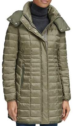 Andrew Marc Marble Packable Hooded Puffer Coat