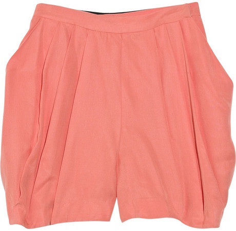 Adam Pleated crepe shorts