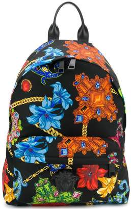 Versace Barocco mix print backpack