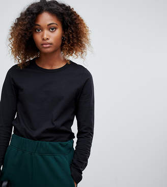 Weekday plain long sleeve t-shirt in black