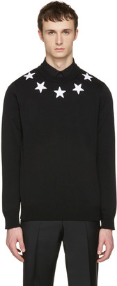 Givenchy Black Embroidered Stars Pullover $745 thestylecure.com