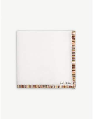Paul Smith Signature stripe edge cotton pocket square