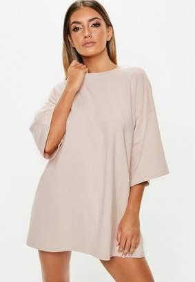 Missguided Tall Blush Oversized T Shirt Dress