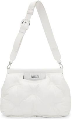 Maison Margiela (メゾン マルジェラ) - Maison Margiela ホワイト ミディアム グラム スラム バッグ