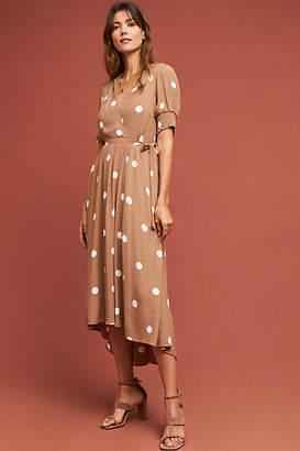 Maeve Bernice Polka Dot Wrap Dress
