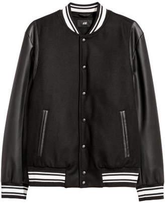 H&M Padded Baseball Jacket - Black