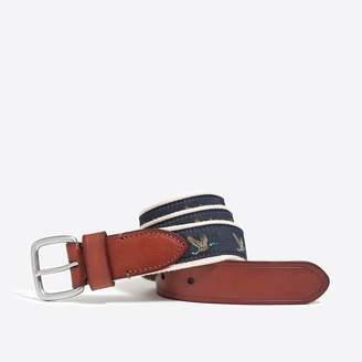 J.Crew Embroidered patterned belt