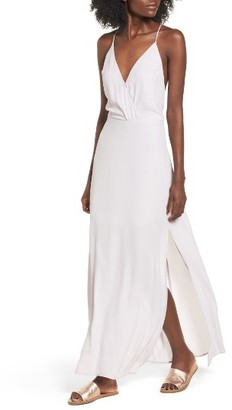 Women's Lush Surplice Maxi Dress $55 thestylecure.com