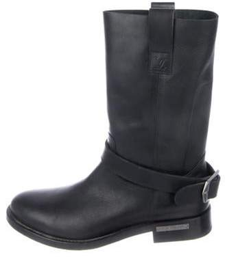 Louis Vuitton Leather Ankle Boots black Leather Ankle Boots