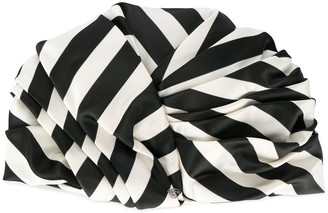 Maison Michel striped wrapped hat