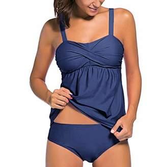 a580d84559fa6 C&L DaySeventh Swimsuits for Womens, DaySeventh Women Tankini Sets with Boy  Shorts Ladies Bikini Set