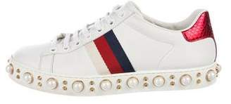 Gucci 2018 Ace Studded Sneakers