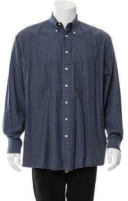 Burberry Plaid Flannel Shirt