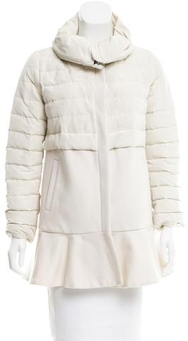 MonclerMoncler Rosier Wool-Paneled Coat