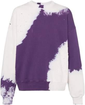 Amiri Shotgun tie-dye distressed cotton sweatshirt