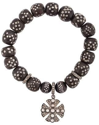 Loree Rodkin Moroccan bead Maltese cross bracelet