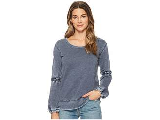 Allen Allen Lantern Sleeve Shirt with Ruffle Women's Long Sleeve Pullover