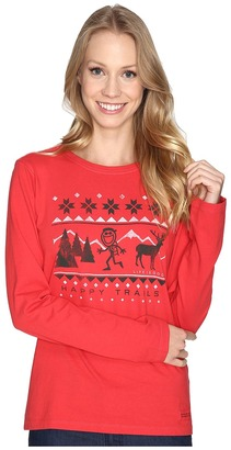 Life is good Happy Trails Sweater Long Sleeve Crusher Tee $30 thestylecure.com