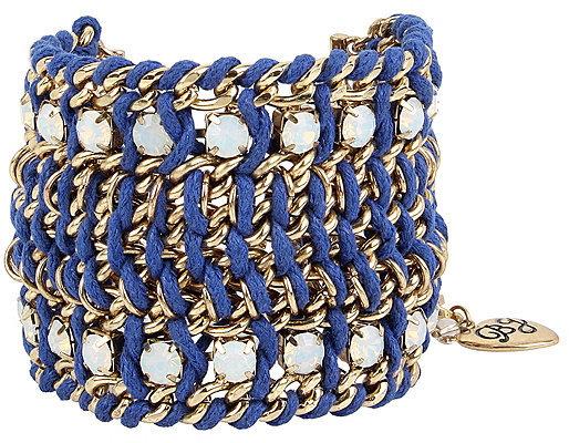 Betsey JohnsonAnchors Away Wide Woven Bracelet