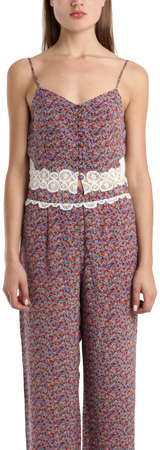 Charlotte Ronson Cropped Cami in Floral