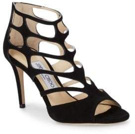 Jimmy Choo Suede Cut-Out Pumps
