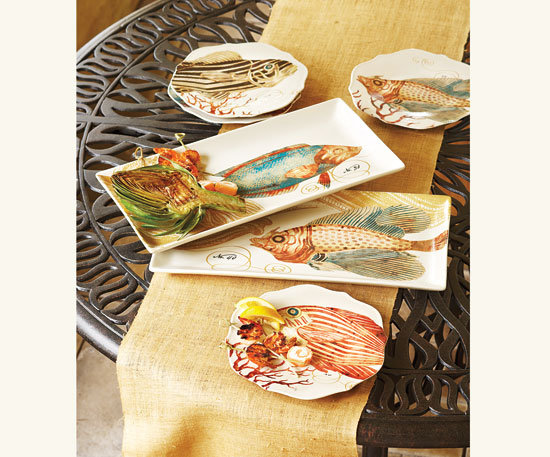 Napa Style Coral Reef Platters & Plates
