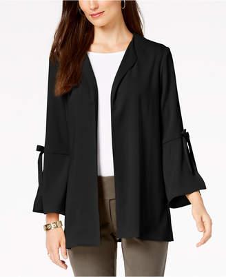 Alfani Petite Tie-Sleeve Jacket