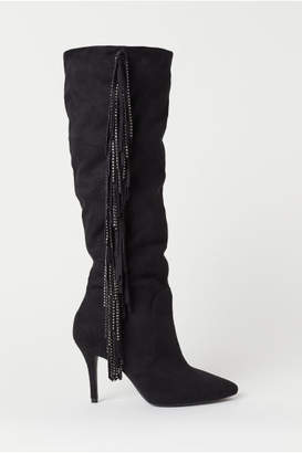 H&M Boots with Fringe - Black