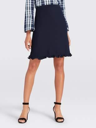 Draper James Wave Ruffle Trim Skirt
