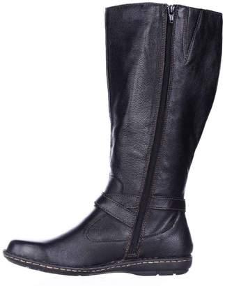 b.ø.c. Womens Barbana WC Leather Round Toe Mid-Calf Fashion