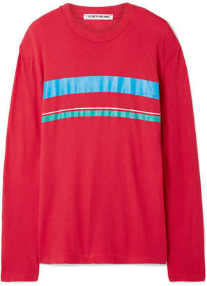 Elizabeth and James Melody Striped Cotton-jersey Top - Red