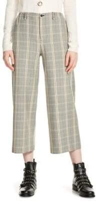 Maje Perse Plaid-Print Pants