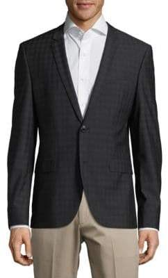 HUGO BOSS Wool Check Jacket
