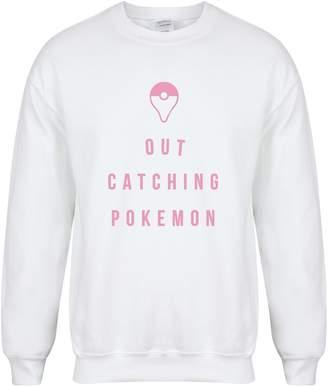 Pokemon Kelham Print Out Catching Unisex Fit Sweater - Fun Slogan Jumper