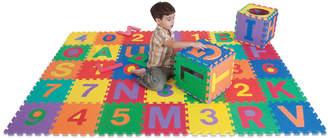 Edushape Edu-Tiles Letters & Numbers 36Pc Floor Mat Set
