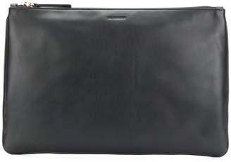 Jil Sander zipped clutch bag