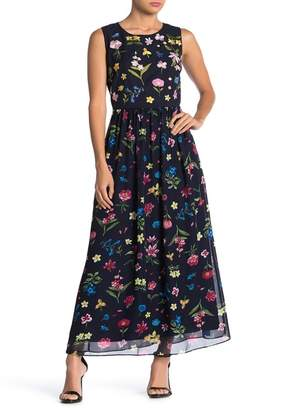 T Tahari Floral Patterned Maxi Dress