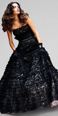 Black Lace Strapless Evening Dresses by Sherri Hill
