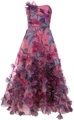 Marchesa floral print strapless ball gown