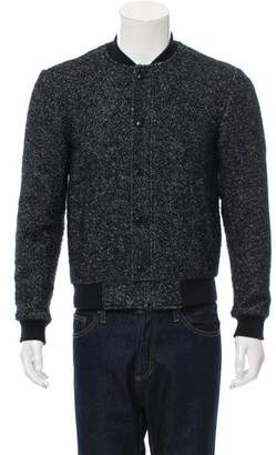3.1 Phillip Lim Rib Knit-Trimmed Zip-Up Jacket