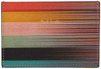 Paul Smith Multicolor Artist Stripe Card Holder