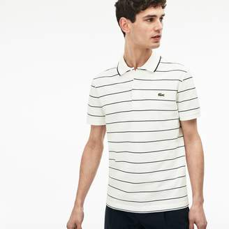 Lacoste Men's Slim Fit Piped Striped Knit Polo