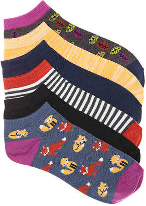 Kelly & Katie Foxes No Show Socks - 6 Pack - Women's