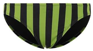 Norma Kamali Striped bikini bottoms